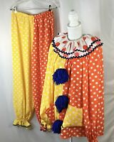 Adult Clown Suit~Handmade~X Large Size~OSFM~3 Pc Outfit~Polka Dots~Halloween