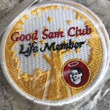2 Good Sam Club Life Member Embroidered Applique Patch RV Caraventure New
