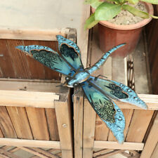 Colourful Metal Dragonflies Garden Fence Wall Art Decoration Ornaments 35CM