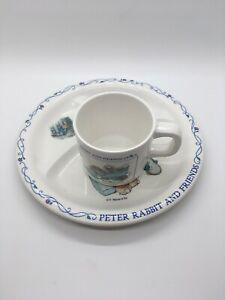 Eden F Warne & Co PETER RABBIT AND FRIENDS Divided PLATE AND CUP Set  Indonesia