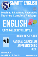 Functional Skills L1 2 E3 English Teaching & Learning Resources Complete Package