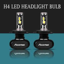 AUTOFELL 2pcs H4 9003 LED Headlight Bulb 6500K White Hi/Low Beam HID Replace USA