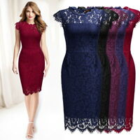 Women's Floral Lace Bodycon Dress with Cap Sleeves for Any Occasion!