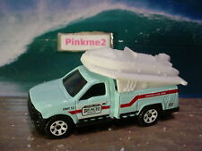 2018 OCEAN WORKS Design FORD F-250 SUPER DUTY w/RAFT☆Blue ;BEACH☆Matchbox LOOSE