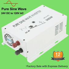 24V to 120V 500W Solar Inverter Pure Sine Wave Power Inverter Home Car Rv Motor