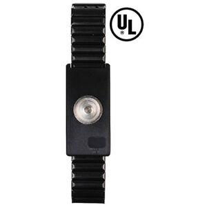 Desco 09186 Single Conductor Metal Wrist Strap, MagSnap, Adjustable