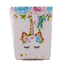 6Pcs/set Rainbow Unicorn Baby Kids Shower Birthday Party Favor Popcorn Treat Box