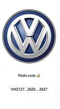Audi/VW Radio Code Service RNS-E Plus/Chorus Concert 2     VWZ1Z7...Z6Z6....Z6Z7
