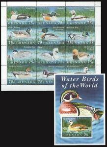Grenada 1995 MNH SS+MS, Water Birds, Ducks, Egyptian Goose