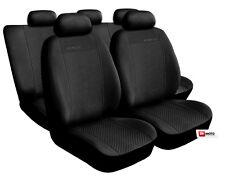 Premium Set Completo cubiertas de asiento Alcantara Off Negro Ajuste Ford Focus