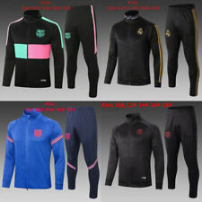 New Kids Boys Team Full Zipper Soccer Tracksuit Jacket &Pants Sports Outfits
