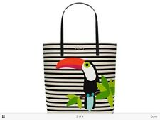"NWT Kate Spade Bon Shopper Montigo Avenue Striped Toucan Tote Bag "" Last One """