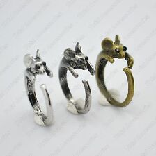 CUTE VINTAGE MOUSE RAT OPEN ENDED RING- Beautiful Women's Jewellery - New