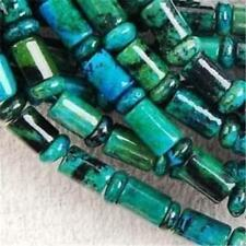 "6x9mm Column Azurite Chrysocolla GemSTONE Loose Bead 15"" AAA"