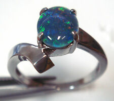 FASHION RING OPAL GEMSTONE 925 STERLING SILVER XMAS MOTHER DAY GIFT PRESENT