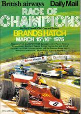 Brands Hatch CORSA DEI CAMPIONI MARZO 1975 ORIGINALE PROGRAMMA UFFICIALE