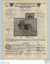 1924 PAPER AD 18 PG Dexter Gas Motor Electic Hand Power Wood Washing Machines