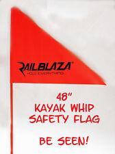 "Railblaza 48"" Orange Whip Flag w/ Starport Base -  Kayak - Canoe - Boats"