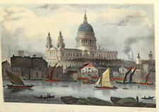 Thomas Sheperd, St. Paul's Cathedral, Vintage Art Print