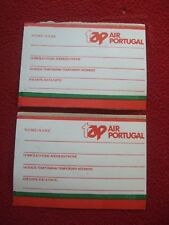 AIRLINE BAGGAGE STICKERS X 2 TAP AIR PORTUGAL 1980'S / 90'S VINTAGE