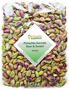 Pistachio Nuts Kernels 400g Natural Shelled Pistachios Nut Unroasted Unsalted