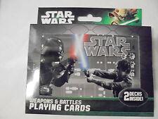 Star Wars Playing Cards Weapons & Battles 2 Decks Tin Box Cartamundi Top Quality