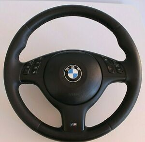 Steering Wheel BMW OEM M3 Technic Leather 370MM E38 E39 E46 X5 Tech 1999-2004