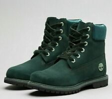 Womens Timberland 6in Premuim Boot Dark Green Size 3 New £65 Box Tatty