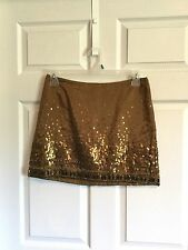 Jennifer Lopez, Woman's 6, Mini Skirt, Gold Tone, Massive Beads And Sequence