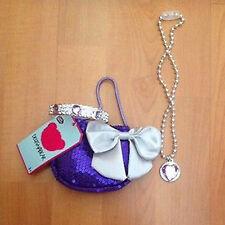 Designabear - Purple dress up set, bag, bangle and necklace