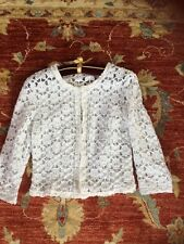 Betty Barclay White Lace Jacket Size 12 Excellent Condition