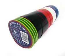 CARROL Electrical PVC Insulation Tape Pack of 10 Rolls 18mm x 20m - Mixed