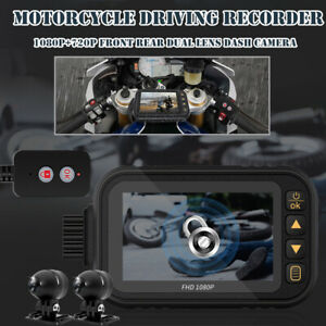 1080P+720P Motorcycle Driving Recorder DVR Camera Front Rear Double Lens Camera