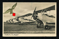 Germany 3rd Reich German Real Picture Postcard Luftwaffe Gold Eagle Seal 1942