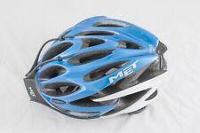 'Vintage' Met Cycle Helmet. Medium 54-57cm. In blue, grey & white. Used twice
