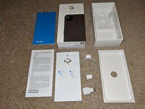 Genuine Google Pixel 4a 4G Just Black Empty Box + Instructions + USB-C Adaptor