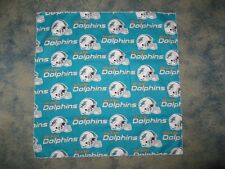 NFL MIAMI DOLPHINS NFL HEAD BANDANA BANDANA -  CHEERING CLOTH - APPROX 25""