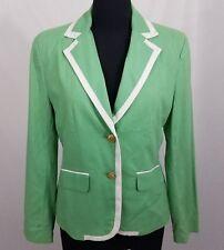NWOT Chadwicks Green White 2 Button Blazer Size 12