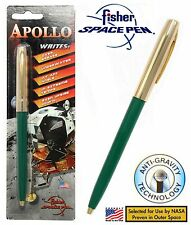 Fisher Space Pen #S251G-Green / Apollo Series Pen in Green & Gold