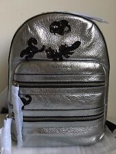 NWT!!Marc Jacobs Gotham Flocked Animals Leather Backpack $595 ACCIAIO