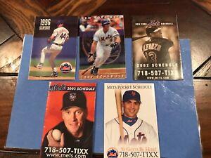 New York Mets lot of 5 pocket schedules