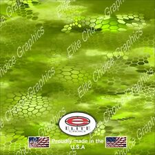 """Hex 3 Green CAMO DECAL 3M WRAP VINYL 52""""x15"""" TRUCK PRINT REAL CAMOUFLAGE"""