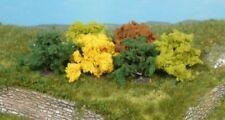 HEK1181 - Lot de 8 Buissons rouge, vert et jaunes  4 cm -