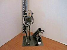 GOLFER SCRAP METAL ART SCULPTURE
