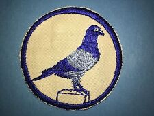 Vintage 1960's Pigeon Hobby Sew On Hipster Jacket Hat Patch Crest