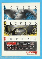 QUATTROR988-PUBBLICITA'/ADVERTISING-1988- IRVING - AUTORADIO