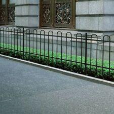 Ornamental Security Palisade Fence Steel Black Hoop Top 120 cm