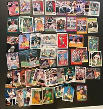 Mark McGwire and Jose Canseco rookie and card lot Cardinals A's