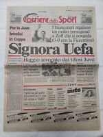 CORRIERE DELLO SPORT 17 MAGGIO 1990 JUVENTUS VINCE COPPA UEFA ROBERTO BAGGIO