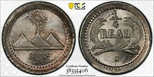 Guatemala 1/4 Real 1878-G, PCGS MS66 Secure Holder, Small G KM# 146a.3